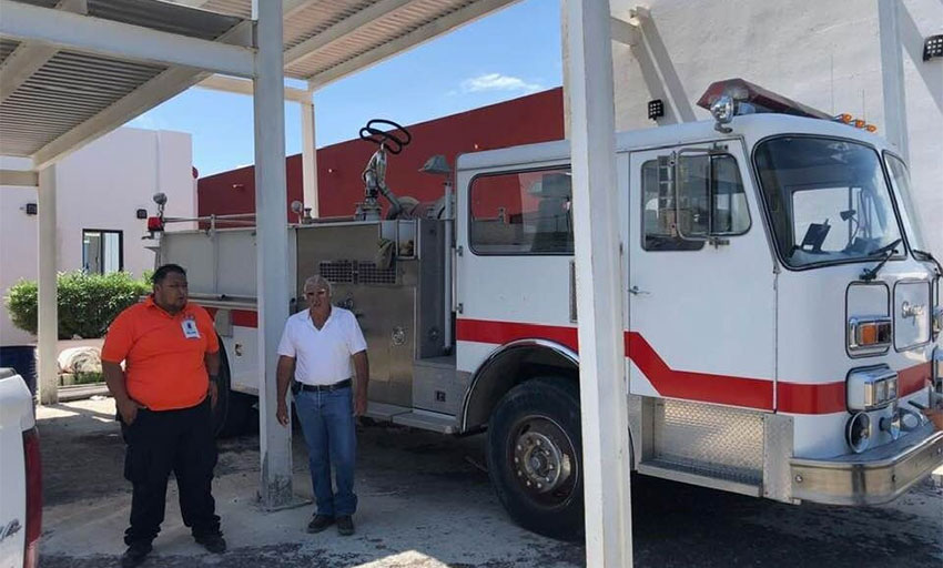 La Ribera now has a fire truck thanks to the creation of a new fire department.