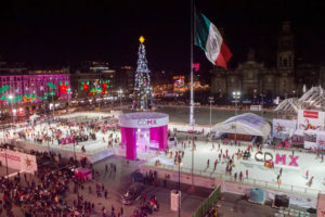 Christmas skating in Mexico City two years ago.