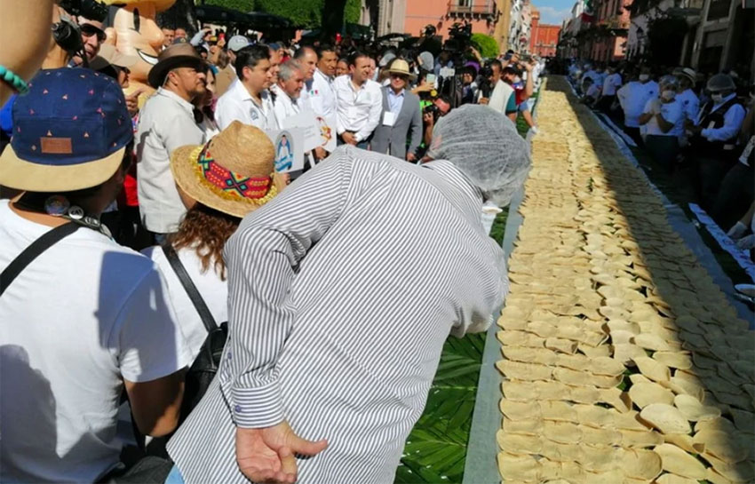 Querétaro's record-breaking taco.