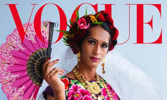 Oaxaca muxe Estrella Vázquez on the cover of Vogue