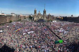 Sunday's one-year anniversary celebration in Mexico City.