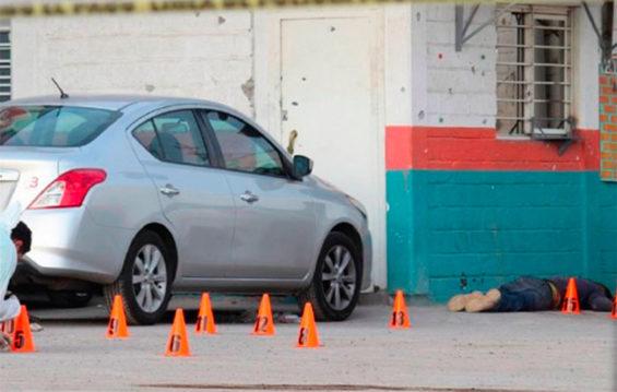 Scene of Sunday's shooting in Uriangato.