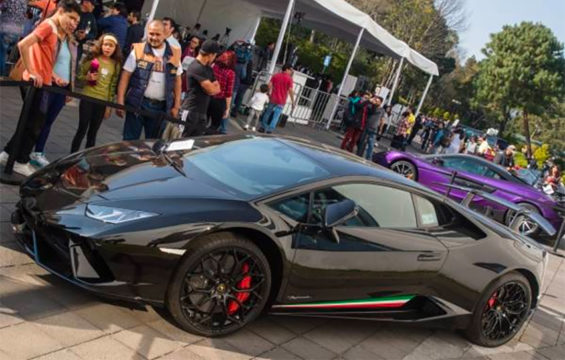 The Lamborghini fetched the top price in the auction of seven luxury vehicles.