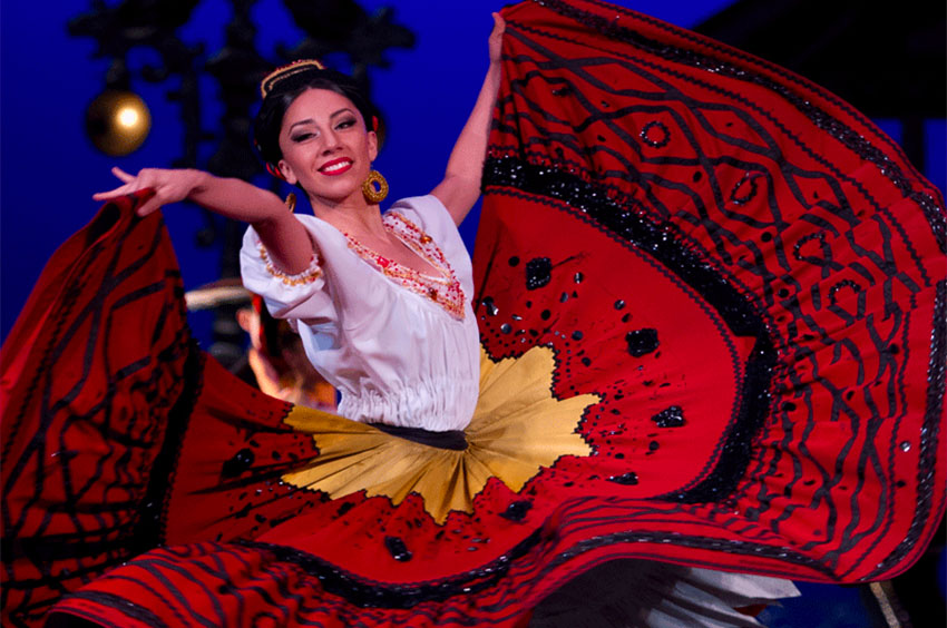 The Folk Ballet is performing this week at Chapultepec Castle in Mexico City.