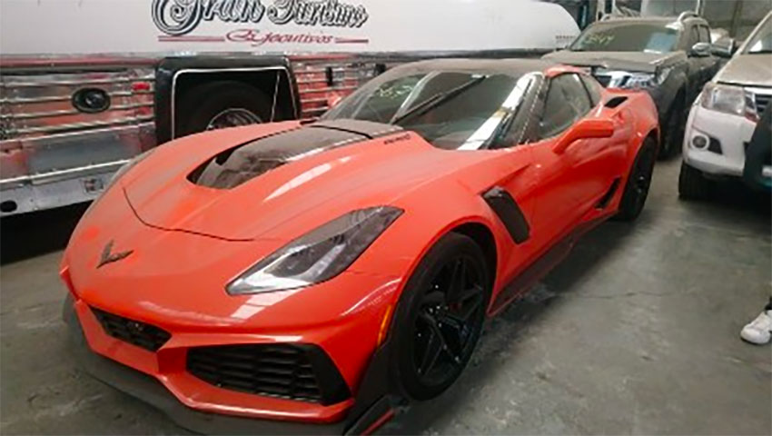 This 2019 Corvette is valued at 567,000 pesos.