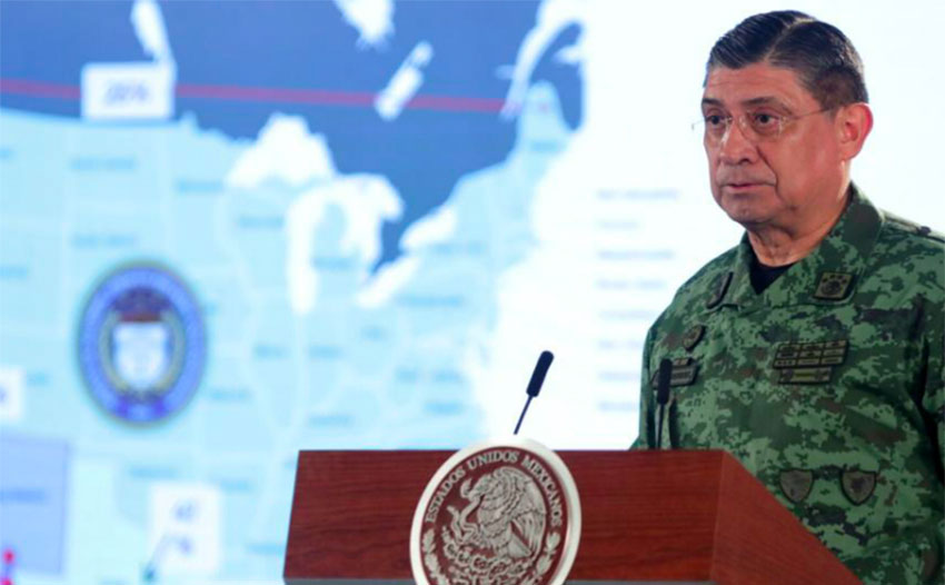 Defense chief Cresencio: focus at border is now on arms coming in more than drugs going out.
