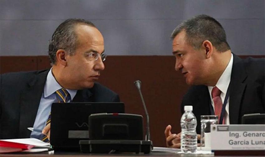 Calderón, left, and García in a file photo.