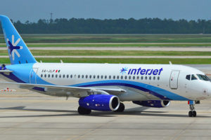 One of the Sukhoi Superjet aircraft operated by Interjet.