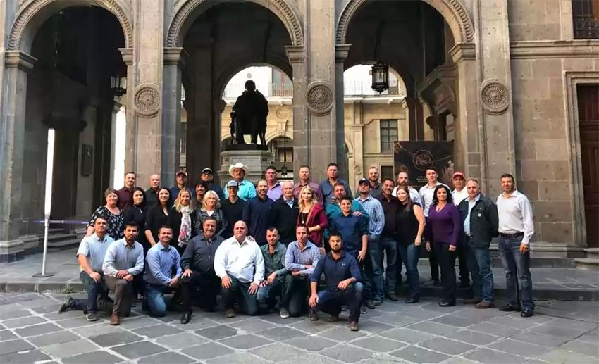 Members of the LeBarón family in Mexico City on Sunday.