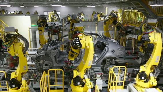 The Kia automotive plant in Nuevo León.