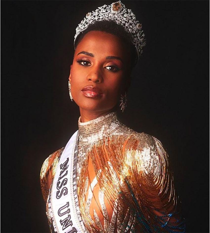 Miss Universe, Zozibini Tunzi of South Africa.