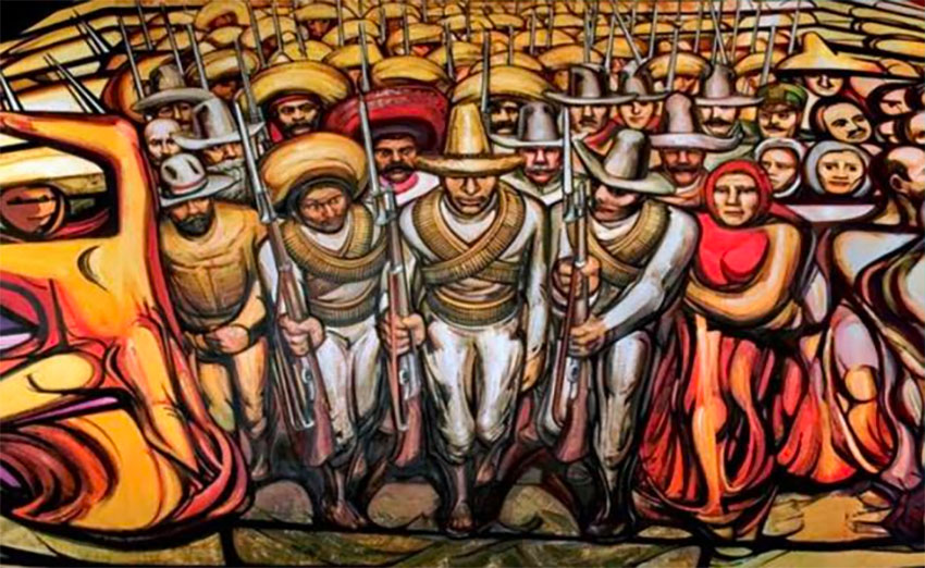 Siqueiros' From Porfirismo to the Revolution at Chapultepec Castle.