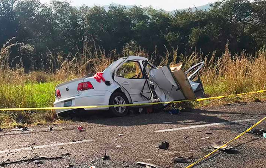 The Volkswagen Jetta after Sunday's accident.