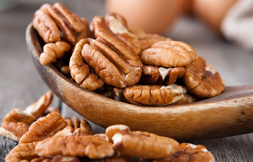 Sometimes it's easier to find pecans than walnuts, but they can be used as a substitute.
