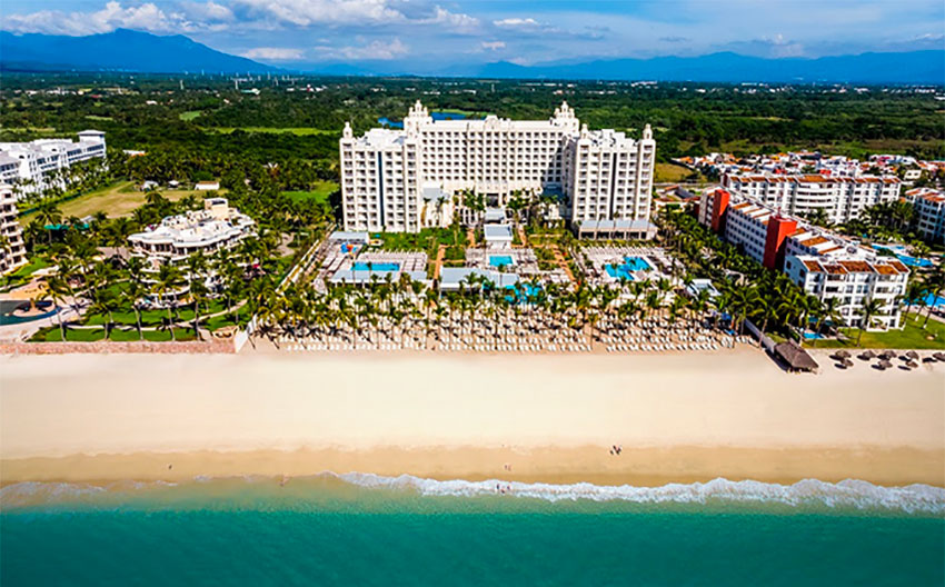 The refurbished Riu hotel in Nuevo Vallarta.