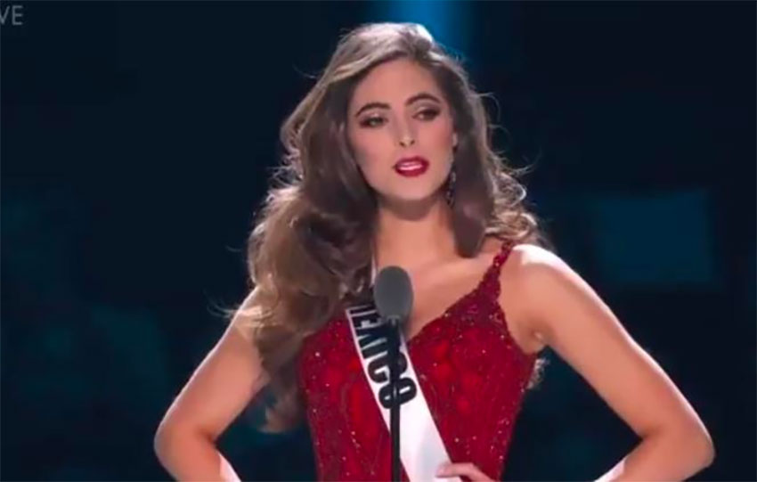 Aragón, third-place winner at Miss Universe competition.