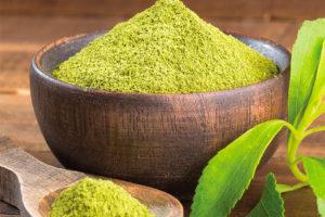 Powdered stevia, 200 times sweeter than sugar.