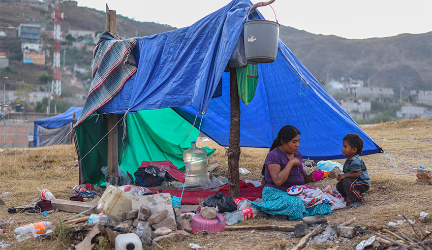Displaced people are at high risk of contracting TB.