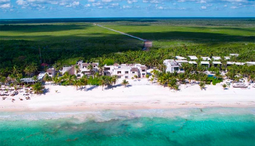 The beachfront property once owned by drug lord Escobar.