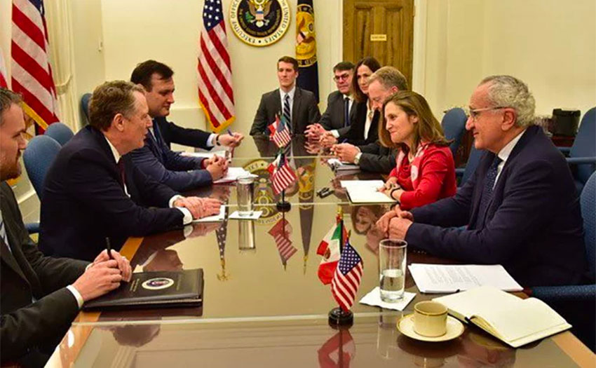 Negotiators from the three trading partners at a meeting last week in Washington.