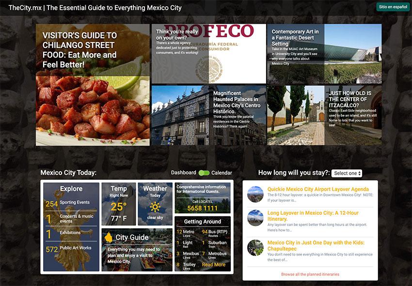 Mexico City's new travel site.