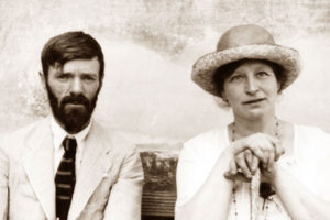 Author D.H. Lawrence and his wife in Chapala.