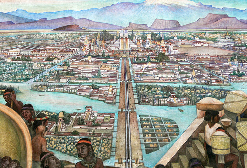 A thousand workers cleaned the streets daily in Tenochtitlán