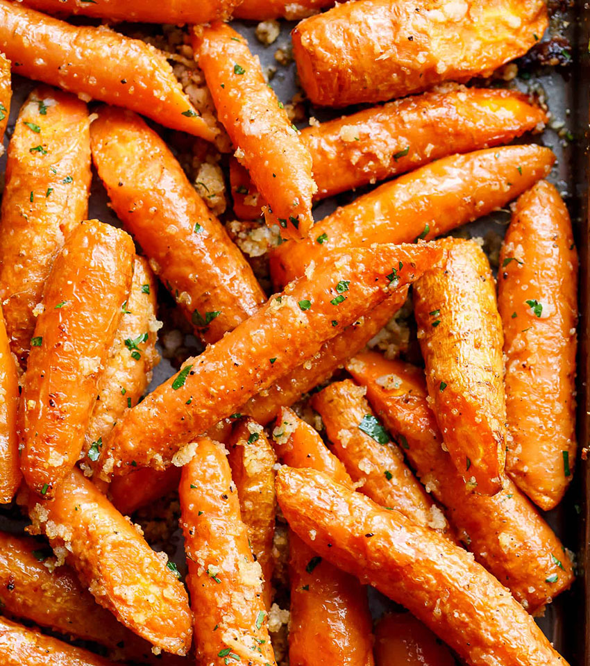 Roasting carrots brings out their earthy flavor.