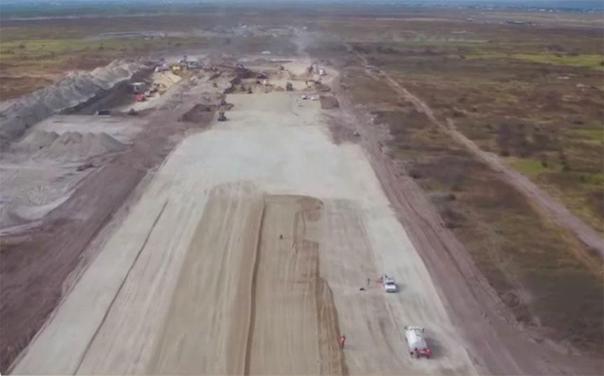 Construction under way at Santa Lucía.