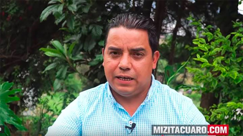 The victim's brother, Amado Gómez: the butterflies lost a friend.