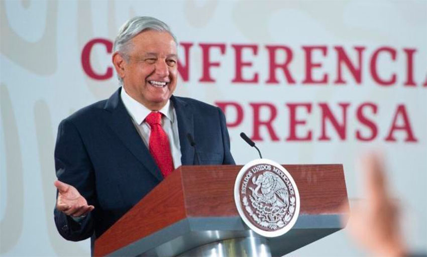 López Obrador says production declines have been halted.