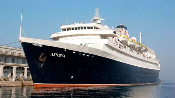 The Astoria departed Thursday on its maiden cruise.