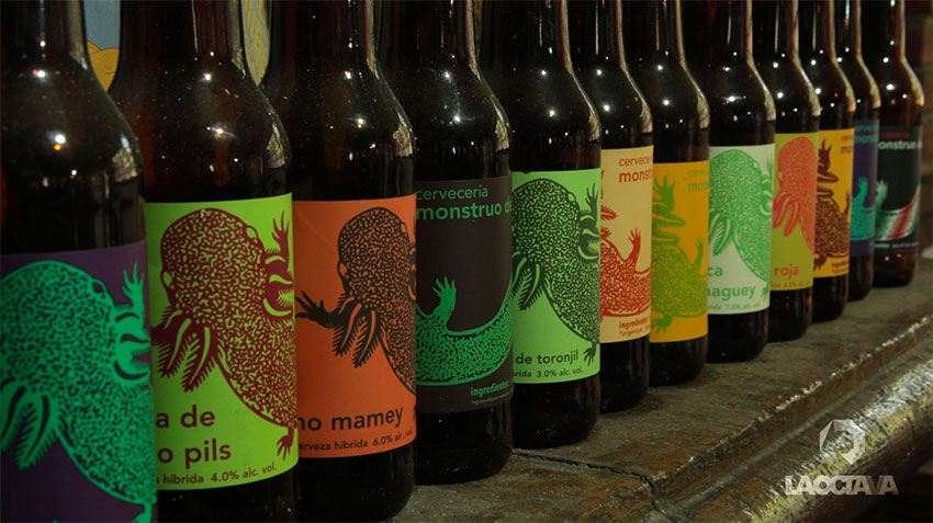 A selection of beers by Monstruo de Agua.