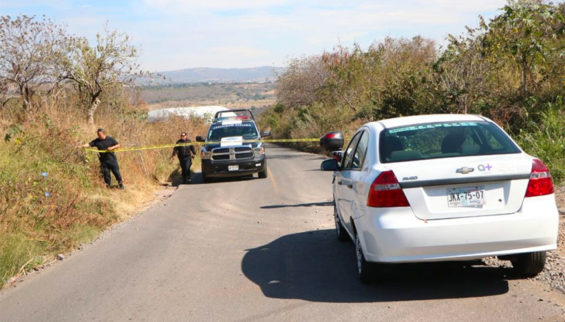The area in which bags of human remains were found in Jalisco.