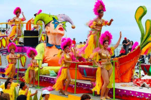 A float in last year's Carnival parade in Veracruz.