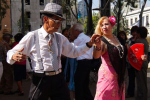 Danzón dancers in Mexico City.