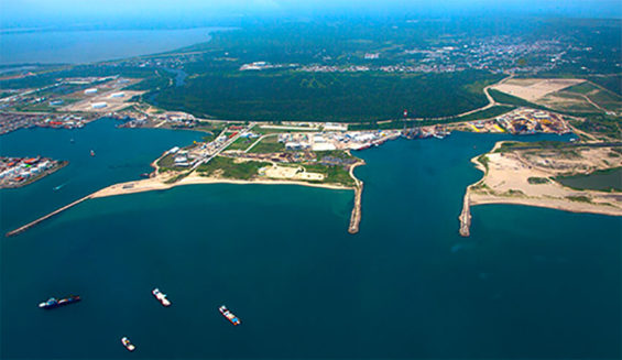 Refinery site at the port of Dos Bocas.