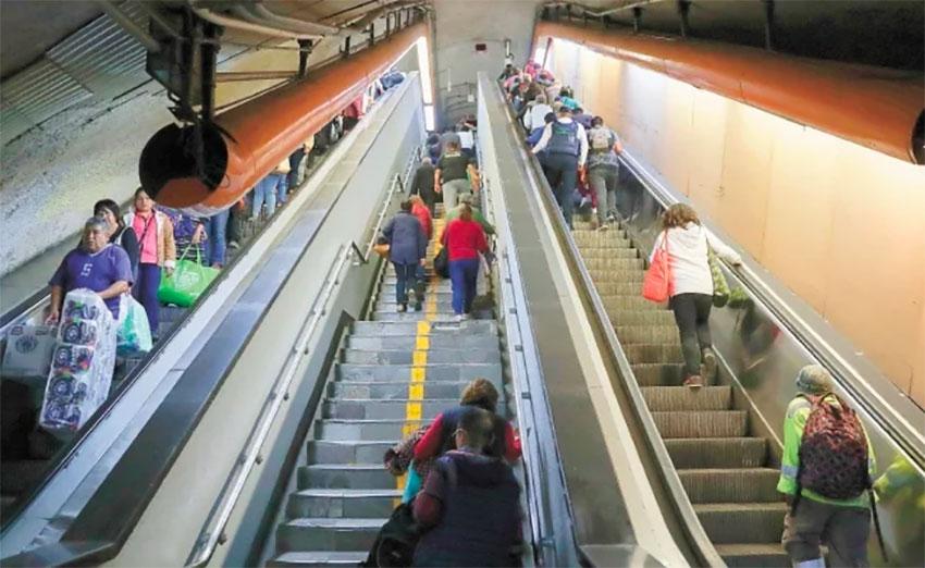 Please don't pee on the escalators, Metro authorities ask.