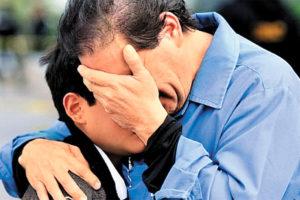 Grief after the school shooting in Torreón, Coahuila.