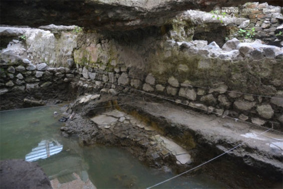 Remains of the sweat lodge found in Mexico City