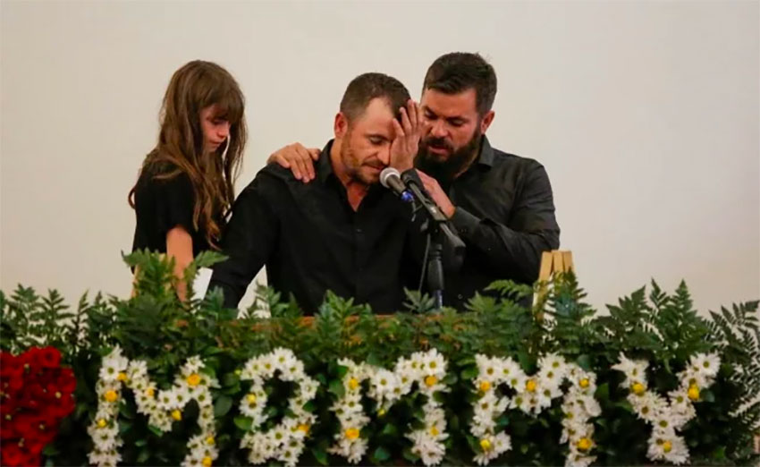 Members of the LeBarón family mourn victims of November massacre.