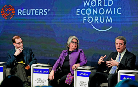 Economy Secretary Márquez in Davos this week.