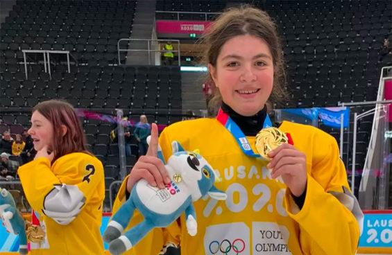 Gold-medal hockey player Luisa Wilson.