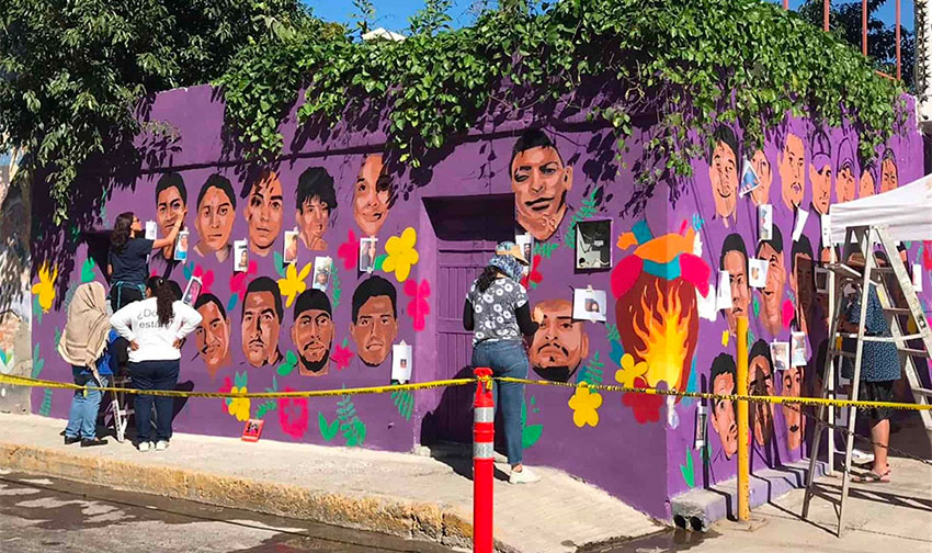 The second of two murals that commemorate people who have disappeared.