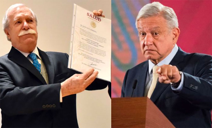 Nieto, left, linked to corruption by President López Obrador.