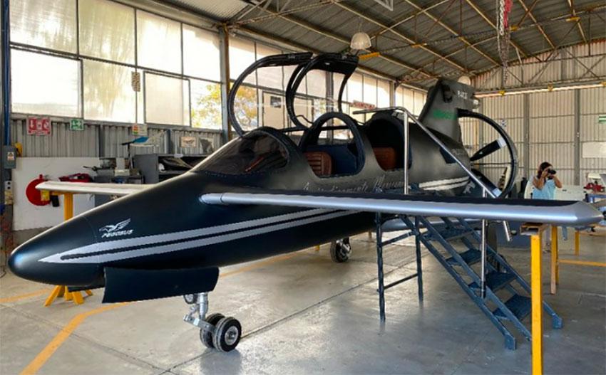 The military plane designed by Oaxaca Aerospace.