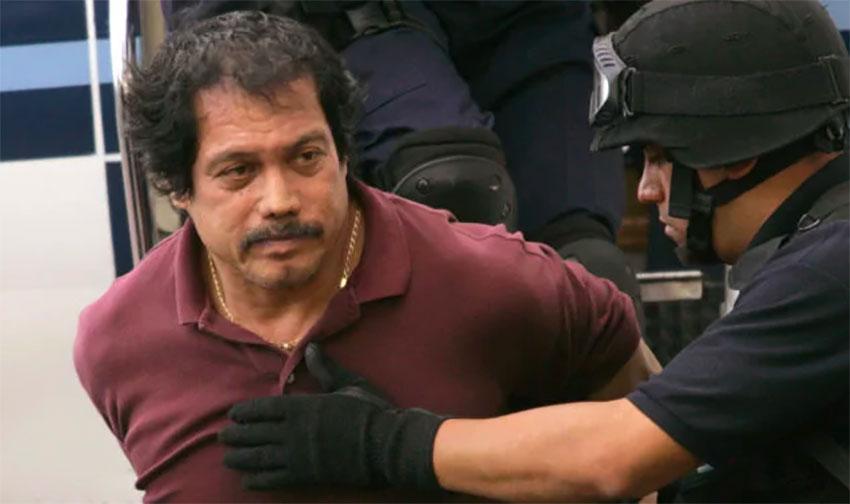 Ríos after his arrest in Los Angeles in 2005.