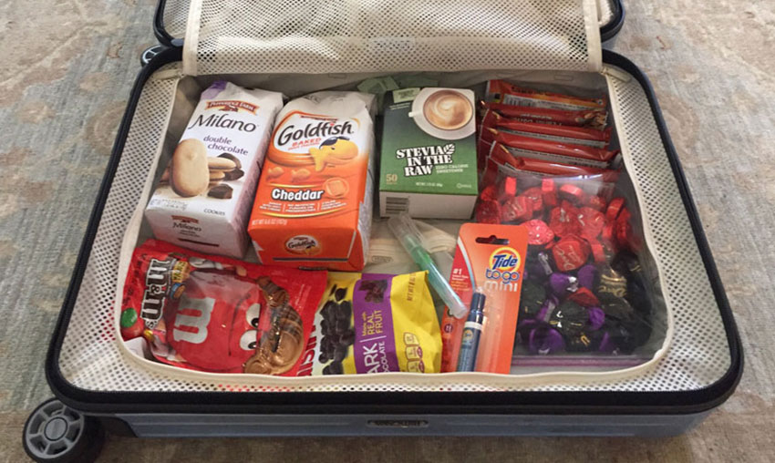 Some people take empty suitcases and fill them with the things they miss.