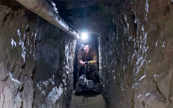The Tijuana-San Diego tunnel runs 21 meters below ground.