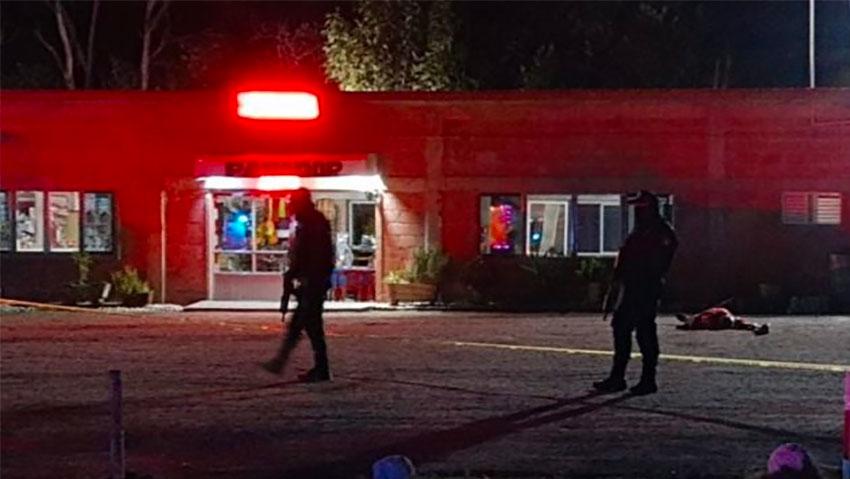 The Villagrán restaurant where Friday night's shooting took place.